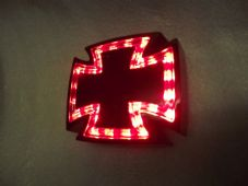 maltese cross led rear light stop and tail black case streetfighter chop